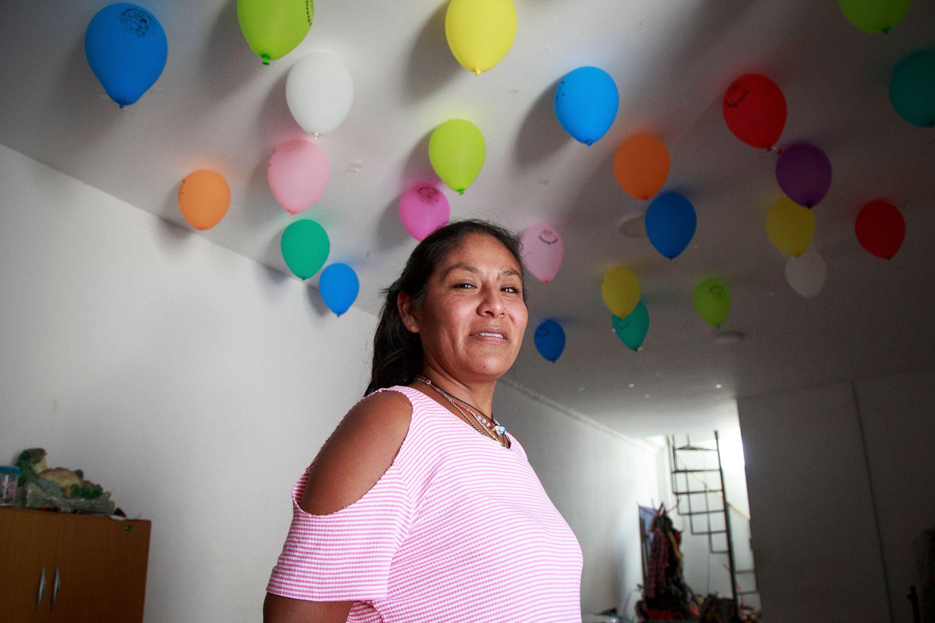Marcela Churqui es delegada de la manzana 22 de la villa 31.