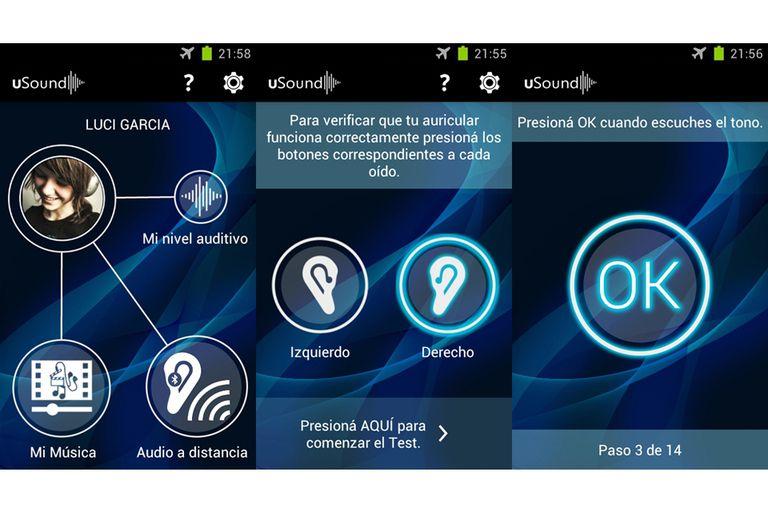 Capturas de pantalla de la versión de uSound para Android