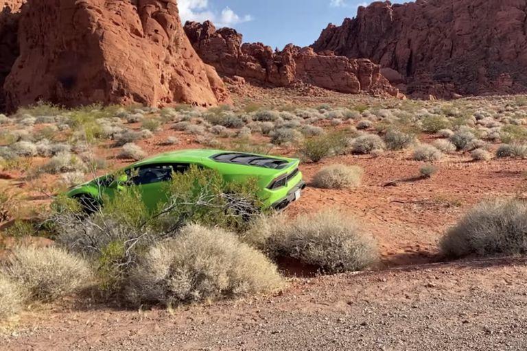 Misterio en Las Vegas: encuentran un Lamborghini abandonado en pleno desierto