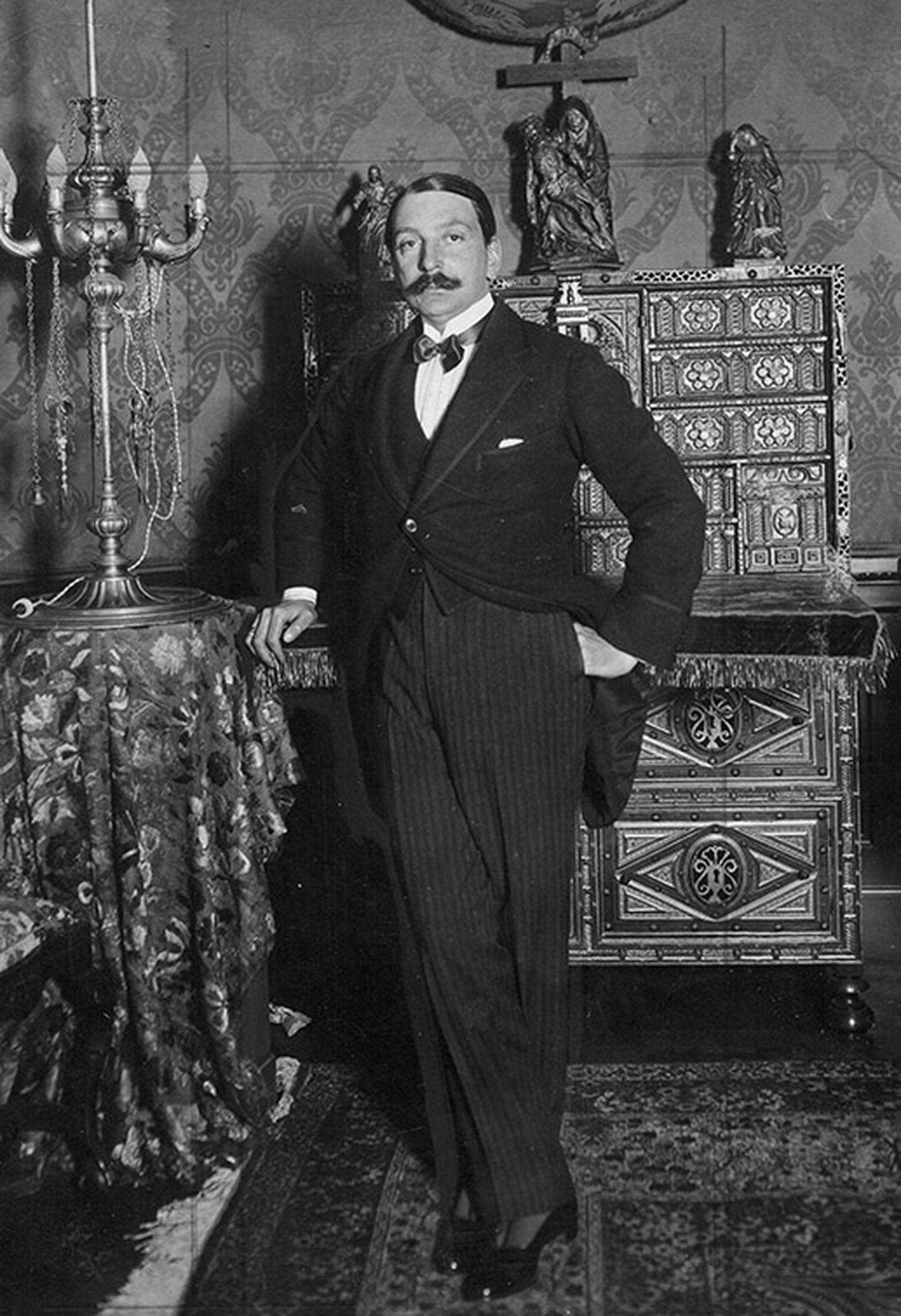 Enrique Larreta en su residencia.