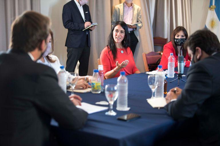 El Ministro de Justicia, Martín Soria, se reunió con fiscalas el 12 de abril pasado