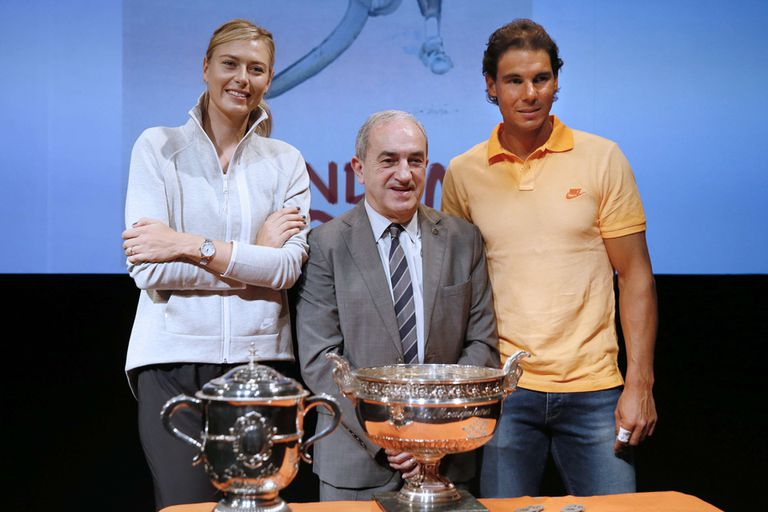 Sharapova y Nadal serán dos animadores en el polvo de ladrillo francés
