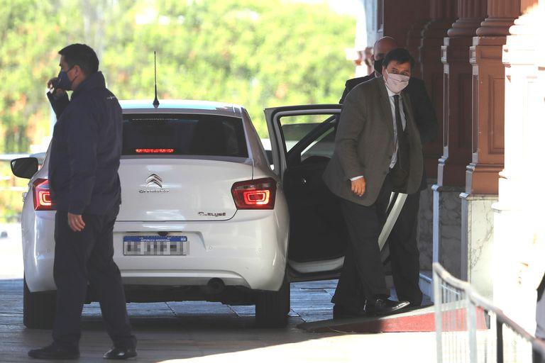 Claudio Moroni, hace unos días, entrando a la Casa Rosada