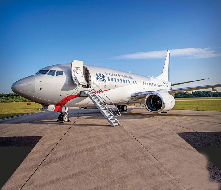 El año pasado se presentó el nuevo avión privado en el que se mueven los Reyes de Holanda. Se trata de un Boeing 737 Business Jet.