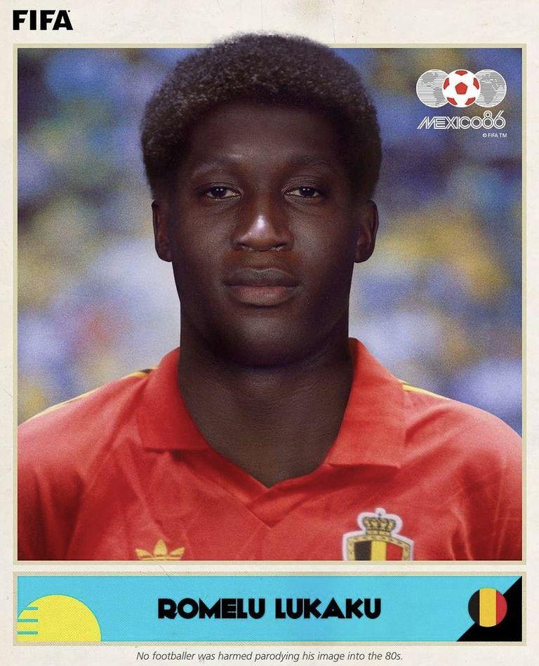 Así hubiese lucido Lukaku en el '86, según la FIFA