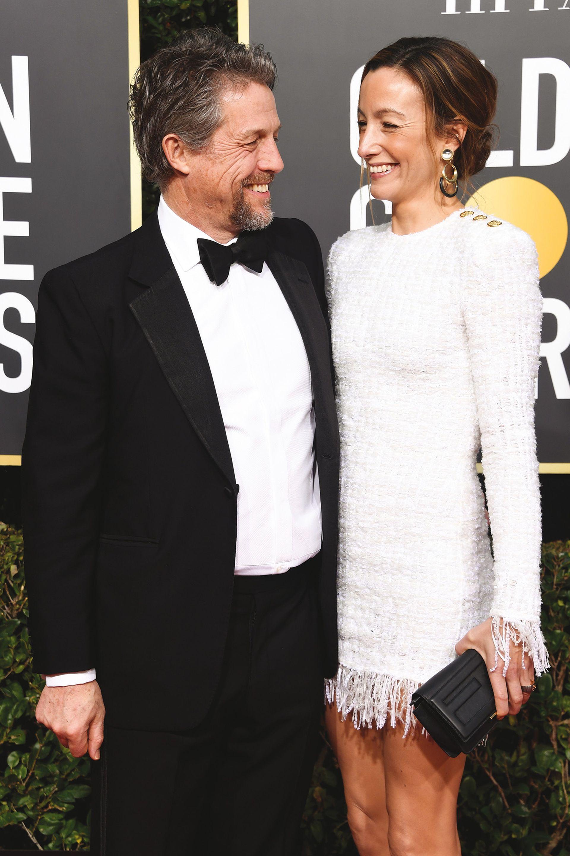 En los Globos de Oro 2019 con su actual esposa, la productora de televisión sueca Anna Eberstein