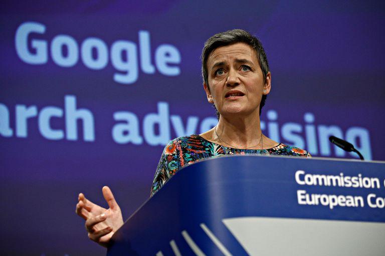 Margrethe Vestager, vicepresidente de la Comisión Europea y encargada de supervisar la política digital del Viejo Continente