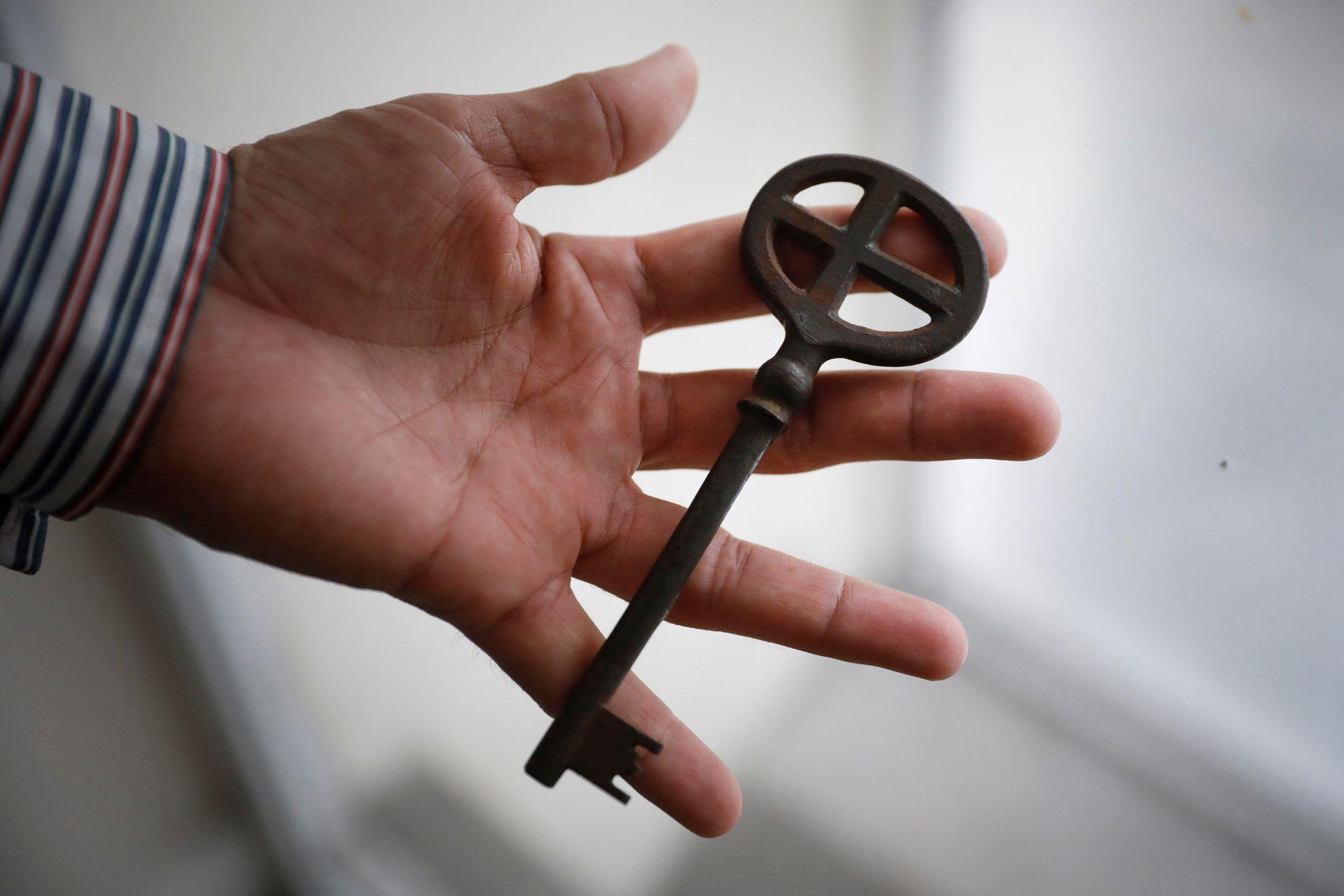 Una de las llaves originales, que aún funcionan, de las puertas de la Basílica