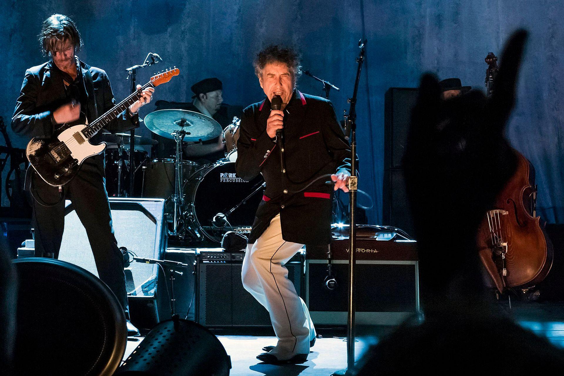 Bob Dylan en el Capitol Theater de Nueva York, en 2012