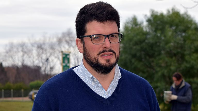 Marcelo Metzler, especialista en manejo y control de malezas de la EEA INTA Paraná