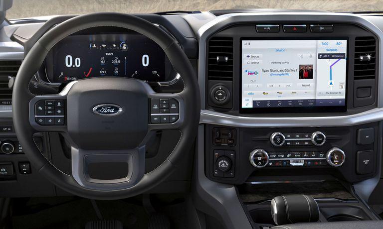 El interior de la nueva Ford F-150 incluye mucha tecnología