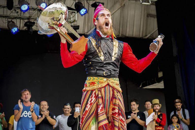 Ernesto Tito Díaz en 2019, cuando se consagró campeón del festival de malambo más importante del país; ahora disfruta de su gran presente en La Academia, el reality que conduce Marcelo Tinelli