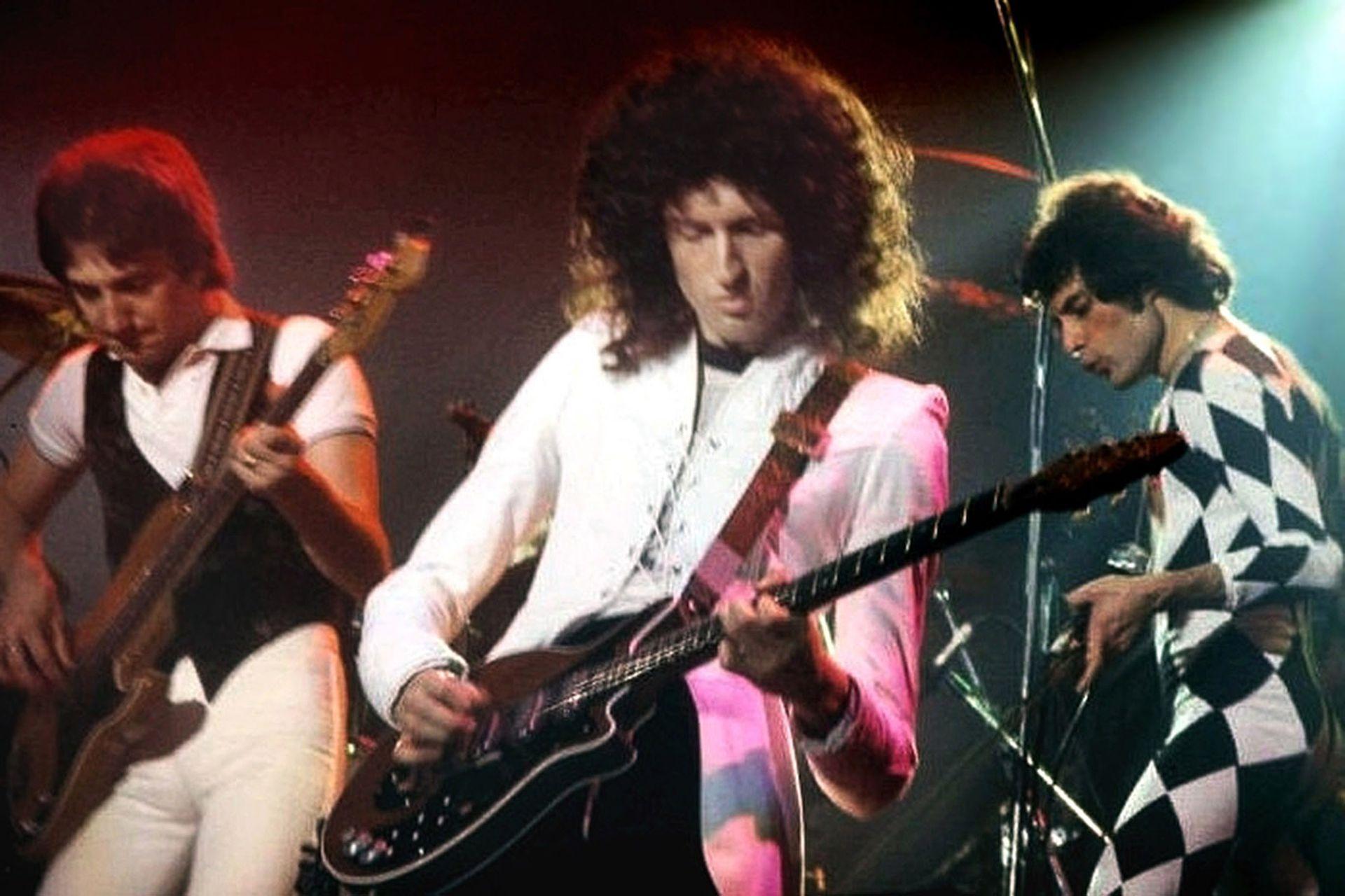 Con Queen, en 1977