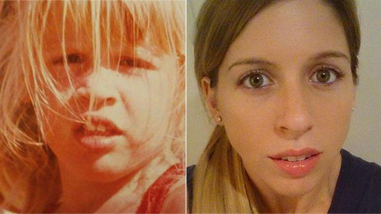 De chica Florencia Bertotti llevaba una cabellera rubia y ya tenía sus característicos labios