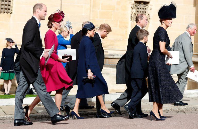 La llegada de los Duques de Cambridge, los Duques de Sussex y los condes de Wessex.