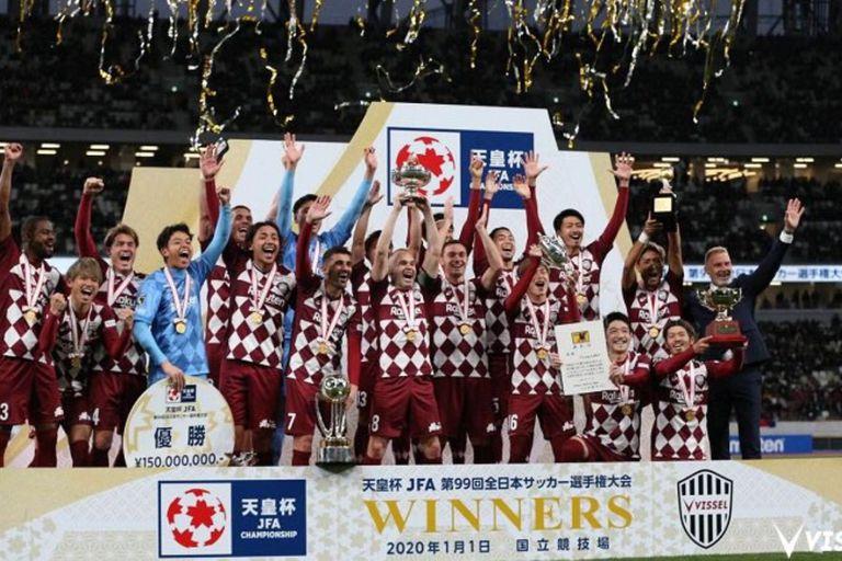 Con Iniesta y Villa, el Vissel Kobe logró con la Copa del Emperador el primer título de su historia