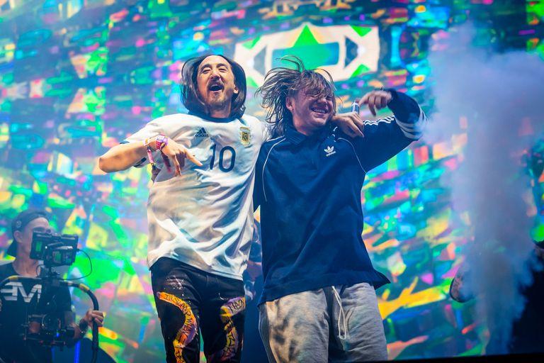 Steve Aoki se sumó al show de Paulo Londra en el Lollapalooza; mirá el video