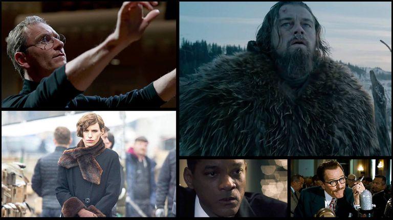 Los mejores actores dramáticos nominados son: Michael Fassbender, Leonardo DiCaprio, Eddie Redmayne, Will Smith y Bryan Cranston