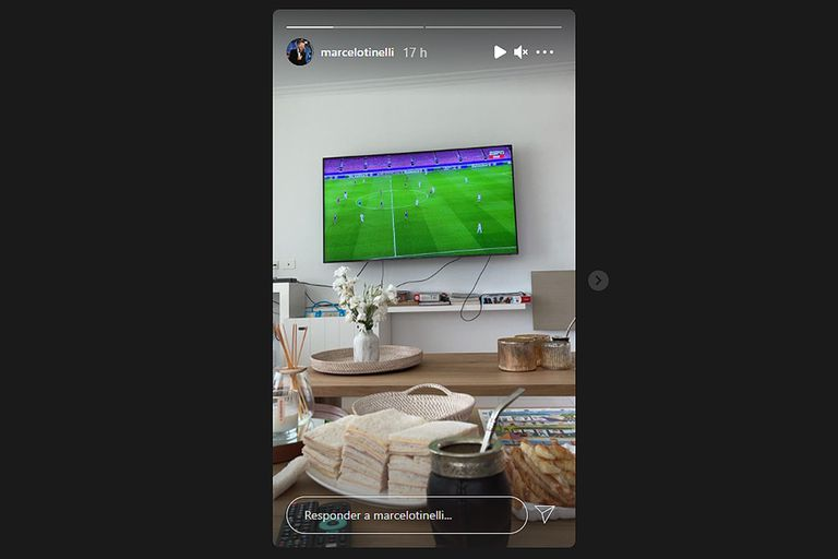 La merienda de Marcelo Tinelli para el partido entre Barcelona y PSG