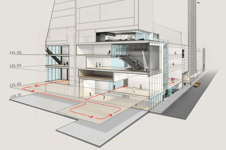 Plano de la ampliación del edificio