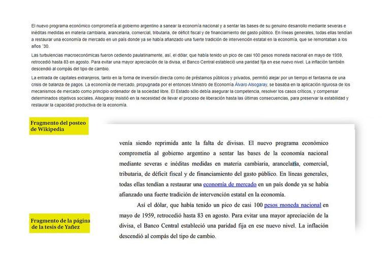 Otro fragmento de la tesis de Fabiola Yañez que es similar a la entrada de Wikipedia