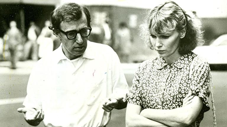 Junto a Woody Allen, que la adoptó como musa en la pantalla grande