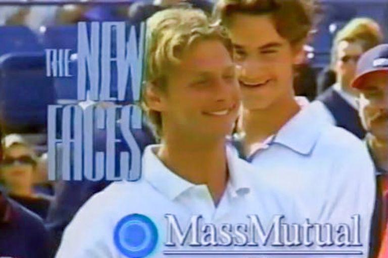 David Nalbandian cuando le ganó la final junior del US Open 98 a un tal Roger Federer