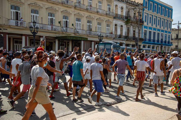 Protestas en La Habana, el 11 de julio