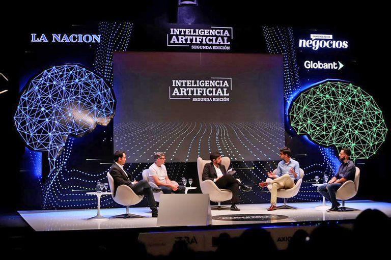 Raul Echegoyen (Sygmind), Nicolás Larrandart (Auravant), Ignacio Federico (LA NACION), Mateo Cavasotto (EMI Labs) y Lucas González Pearson (Woocar)