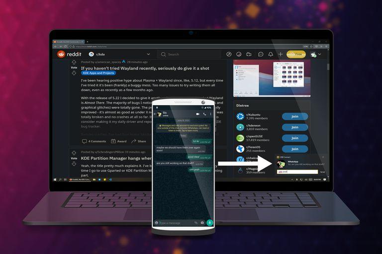 KDE Connect nació para Linux, pero ahora está disponible para Windows 10; permite gestionar las notificaciones de Android en la PC