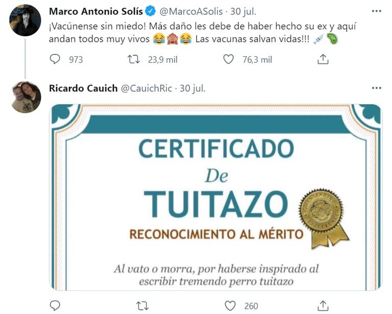"""Uno de los seguidores de Solís calificó su posteo de """"tuitazo""""."""