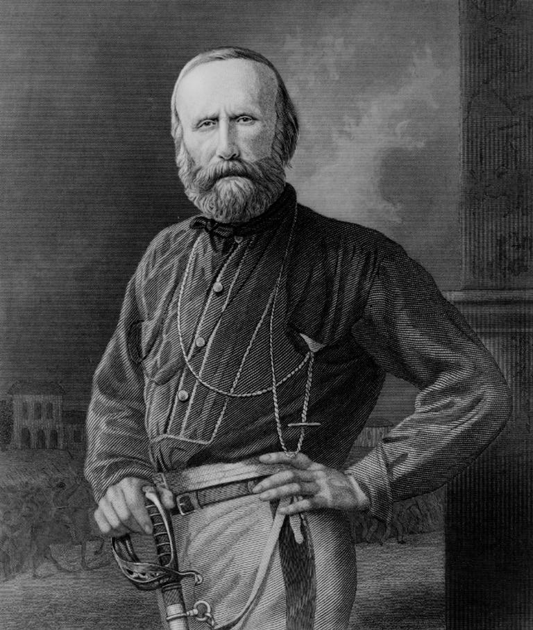 Giuseppe Garibaldi, héroe de la unificación italiana.