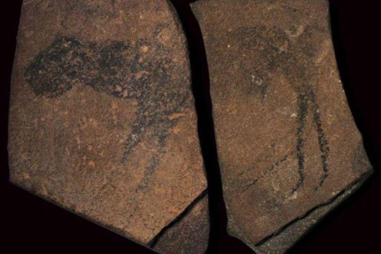 Las pinturas halladas en la cueva Apolo 11, en Namibia, tienen una antigüedad de unos 30.000 años