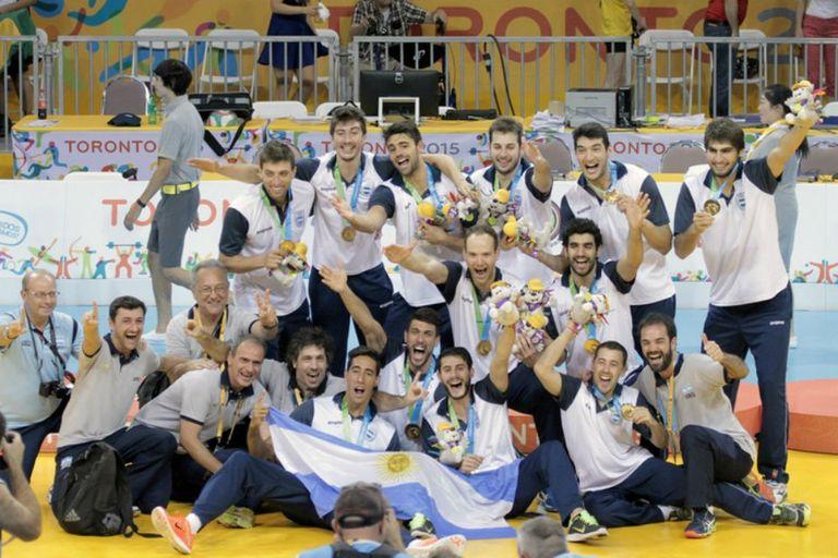 El festejo del último oro panamericano para los pibes del voleibol