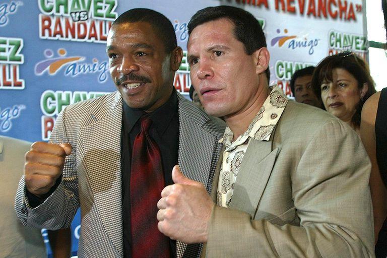 Frankie Randall en México, junto a Chávez