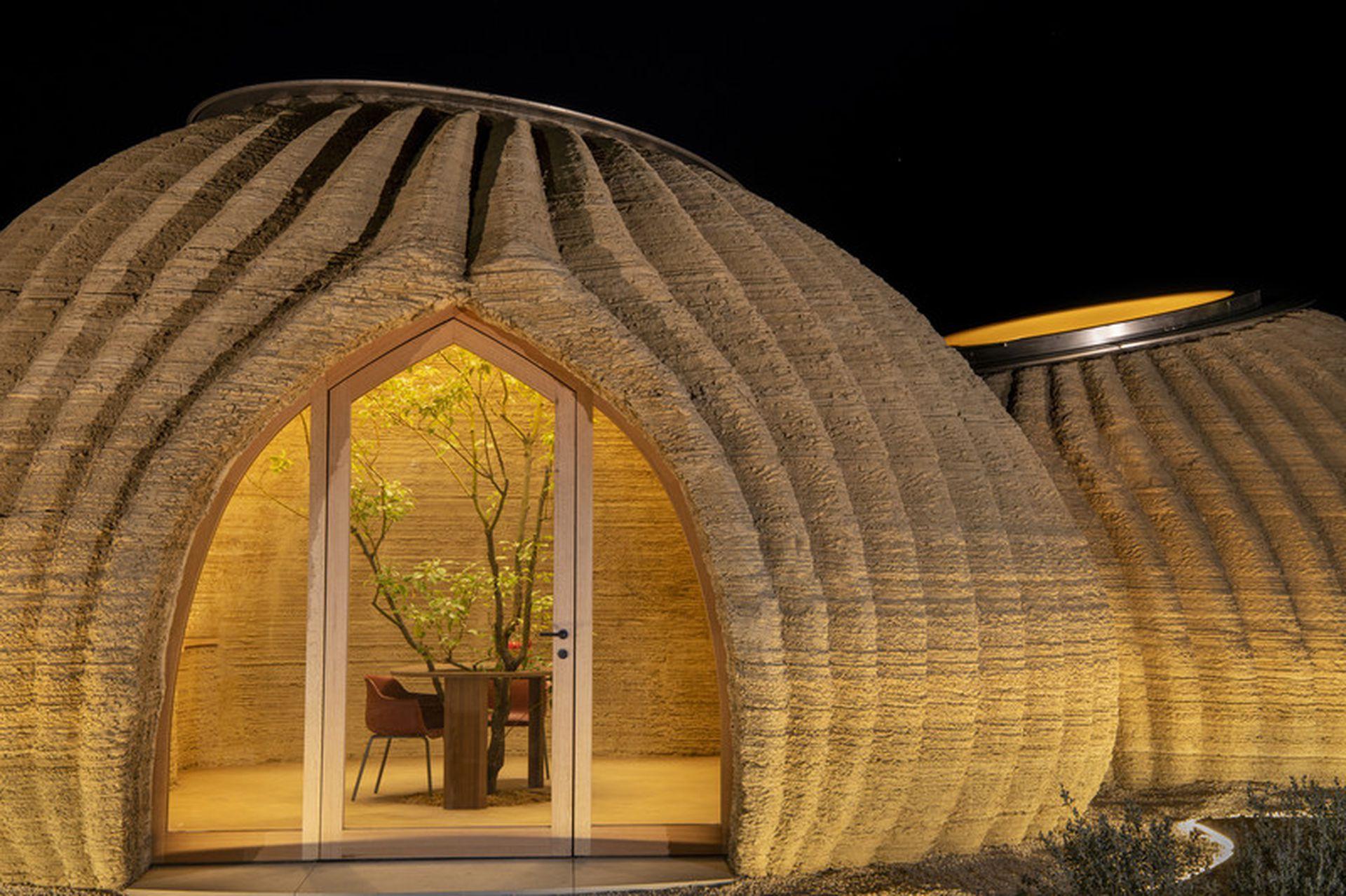Una casa de barro en 3D y rápida de construir
