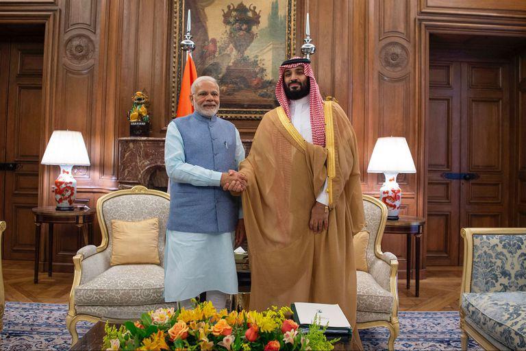 Modi y Mohammed, en su encuentro en Buenos Aires