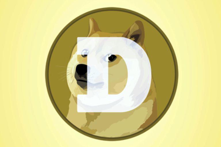 Esta imagen muestra el logo de Dogecoin en Nueva York el martes 20 de abril del 2021.  (AP Foto/Richard Drew)