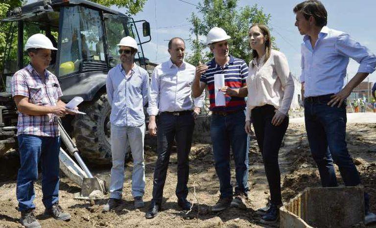 Vidal recorre obras junto a Insaurralde, un día después de aprobar el presupuesto