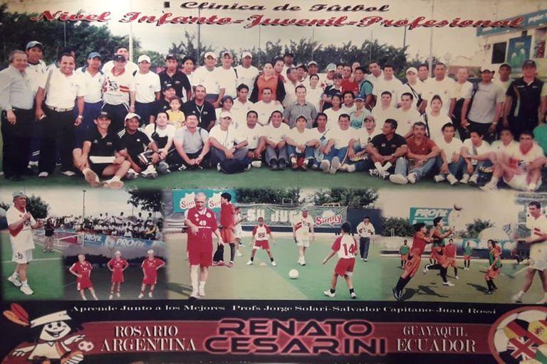 Su club, Renato Cesarini, fue pionero en realizar clínicas con entrenadores y preparadores físicos haciendo trabajo de campo.
