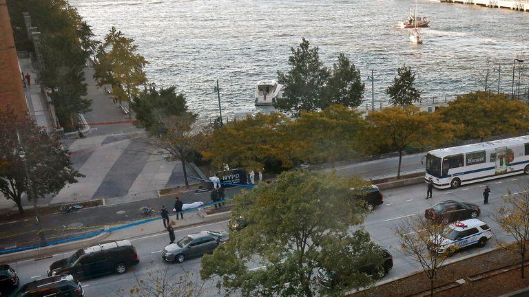 Vista de la zona donde fue el ataque