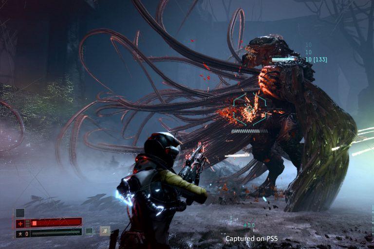 Returnal, un shooter en tercera persona exclusivo para PS5, es uno de los títulos que llegarán a la nueva consola de Sony en abril