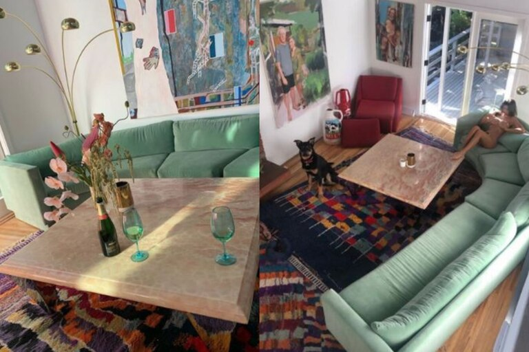 La gran sala de estar que actualmente tiene Emily Ratajkowski