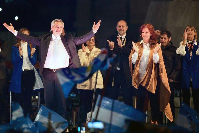 Alberto Fernández y Cristina Kirchner brindaban un acto conjunto en Rosario