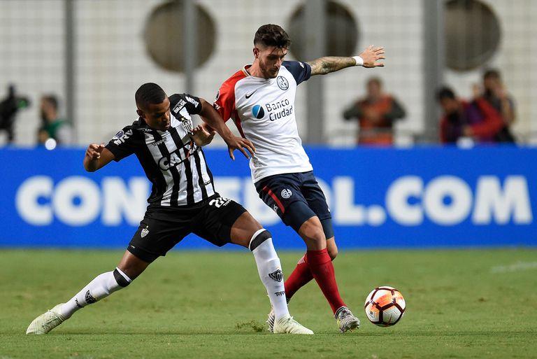 Atlético Mineiro-San Lorenzo: el Ciclón resistió y sigue en la Copa Sudamericana