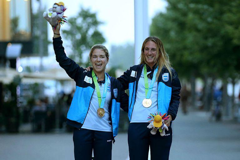 Victoria Travascio y María Branz lucen su oro