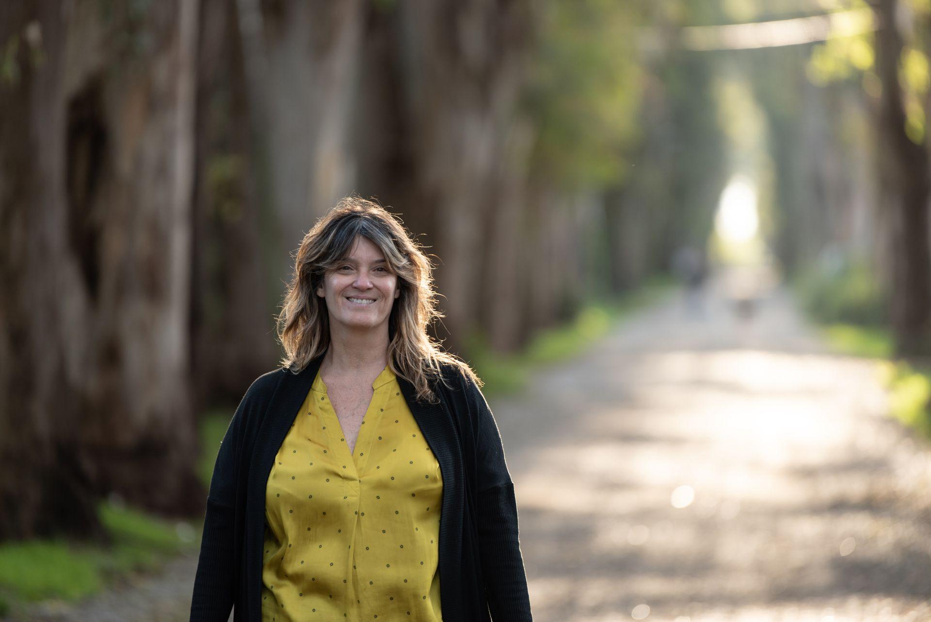 Paula en su barrio, una zona residencial de calles tranquilas
