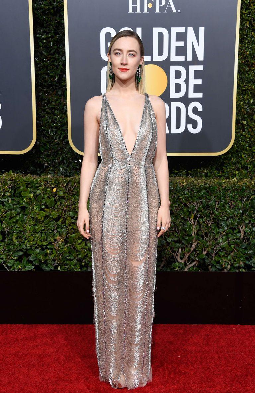 Saoirse Ronan, en plateado