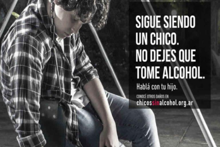 Pieza gráfica de la campaña del Consejo Publicitario Argentino dirigida a prevenir el consumo de alcohol en jóvenes