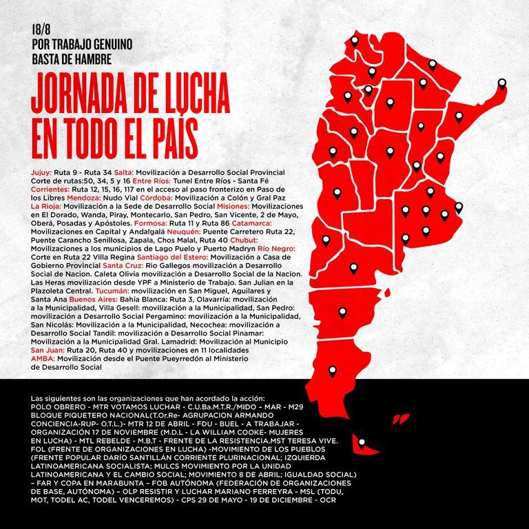 El mapa de los cortes que habrá hoy en 20 provincias